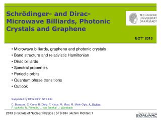 Schrödinger- and Dirac-Microwave Billiards, Photonic Crystals and Graphene