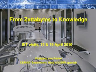 IET visits, 15 & 19 April 2010