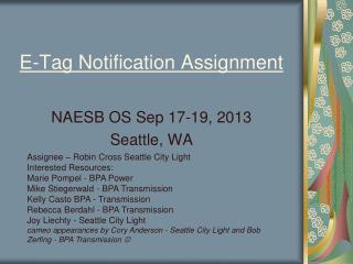 E-Tag Notification Assignment