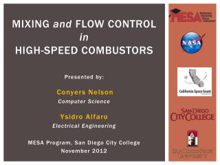 Mixing  and Flow Control  in High-speed Combustors
