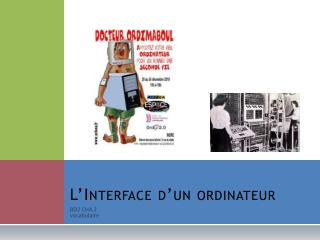 L'Interface d'un ordinateur