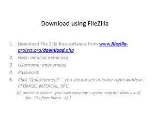 Download using  FileZilla