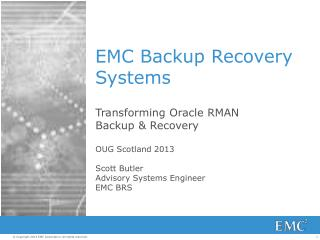 EMC Backup Recovery Systems