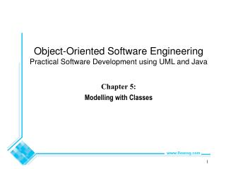 Chapter 5:  Modelling with Classes