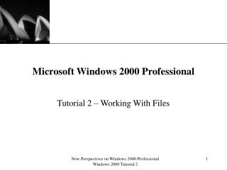 New Perspectives on Windows 2000 Professional