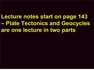 lecture notes start on page 143    plate tectonics and geocycles are one lecture in two parts