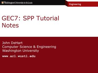 GEC7: SPP Tutorial Notes