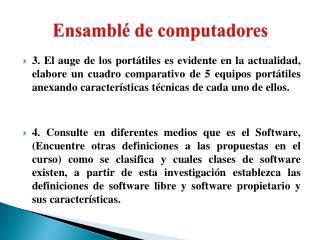 Ensamblé de computadores