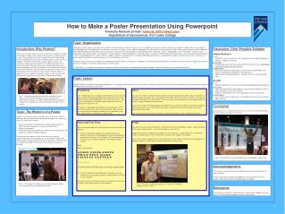 How to Make a Poster Presentation Using  Powerpoint Kimberly Hannula (e-mail:  hannula_k@fortlewis.edu ) Department of
