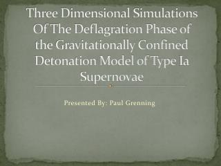 Three Dimensional Simulations Of The Deflagration Phase of the Gravitationally Confined Detonation Model of Type  Ia  S