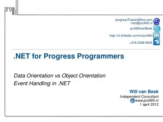 .NET for Progress Programmers