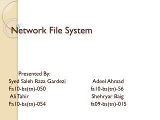 Network File System
