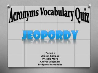 Acronyms Vocabulary Quiz