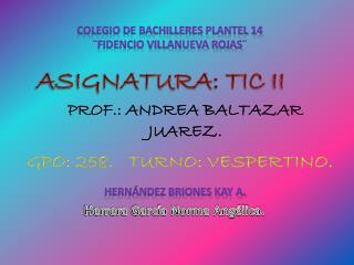 Colegio de Bachilleres plantel 14 ¨Fidencio Villanueva Rojas¨