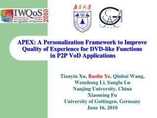 APEX: A Personalization Framework to Improve  Quality of Experience for DVD-like Functions  in P2P  VoD  Applications