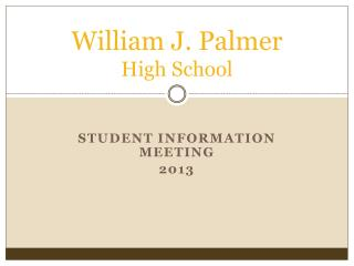 William J. Palmer  High School