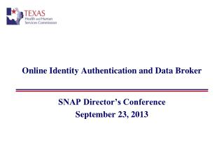 Online Identity Authentication and Data Broker
