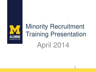 Minority Recruitment Training Presentation