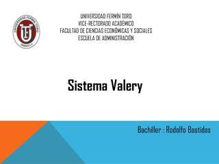UNIVERSIDAD FERMÍN TORO VICE-RECTORADO ACADÉMICO FACULTAD DE CIENCIAS ECONÓMICAS Y SOCIALES ESCUELA DE ADMINISTRACIÓN