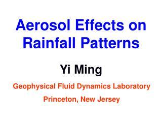 Aerosol Effects on Rainfall Patterns