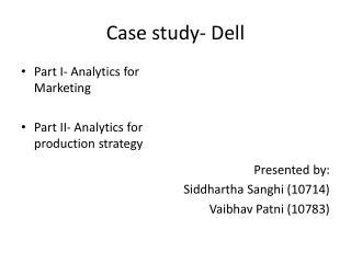 Case study- Dell