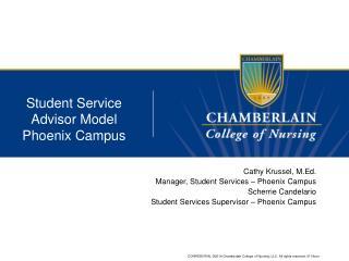 Student Service Advisor Model Phoenix Campus