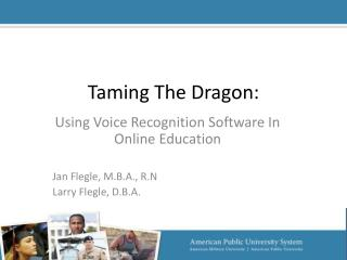 Taming The Dragon: