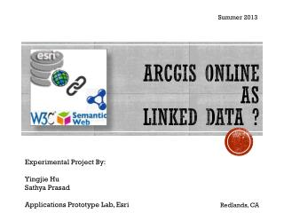 ArcGIS Online  as  Linked Data ?