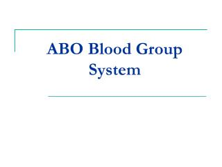 abo blood group system