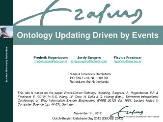 Ontology Updating Driven by Events