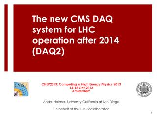 The new CMS DAQ system for LHC operation after 2014 (DAQ2 )