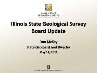 Illinois State Geological Survey Board Update