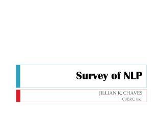 Survey of NLP