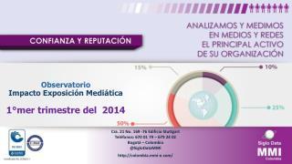 Observatorio Impacto  Exposición  Mediática 1°mer trimestre del  2014