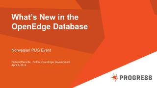 What's New in the OpenEdge Database