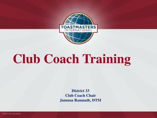 Club Coach Training