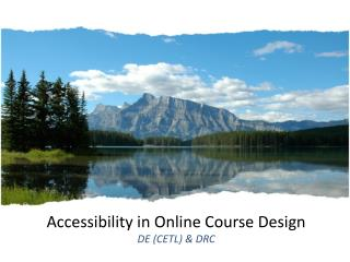 Accessibility in Online Course Design