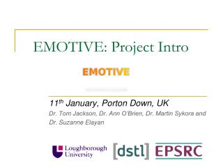 EMOTIVE: Project Intro