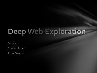 Current Search Technology for Deep Web