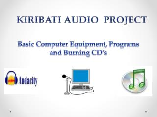 Basic  Computer Equipment, Programs  and  Burning  CD's