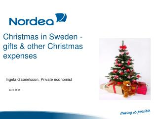 Christmas in Sweden -   gifts &  other  Christmas  expenses