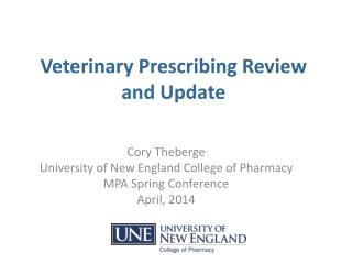 Veterinary Prescribing Review and Update