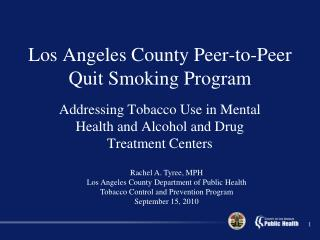 Los Angeles County Peer-to-Peer Quit Smoking Program