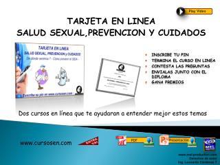 TARJETA EN LINEA SALUD SEXUAL,PREVENCION Y CUIDADOS