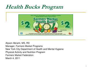 Health Bucks Program