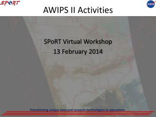 AWIPS II Activities