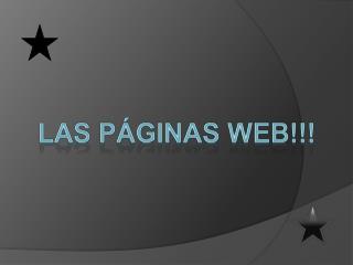 Las Páginas web!!!