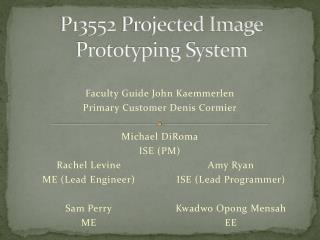 P13552  Projected Image Prototyping System