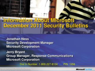 Information About Microsoft  December 2011 Security Bulletins