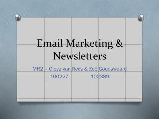 Email Marketing & Newsletters